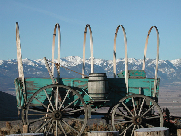 Oregon Trail Wagon Baker City
