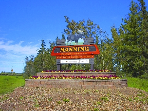 Manning Alberta Northern Lights County