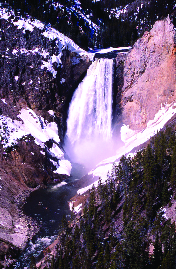 Yellowstone National Park Montana Waterfall